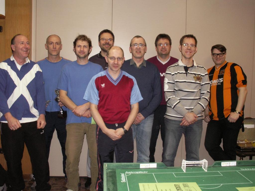 Die Teilnehmer der südwestdeutschen         Einzelmeisterschaft 2011/12
