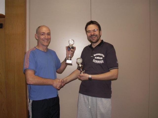 Siegerehrung: Thomas Winkler (links) ist         Südwest-Meister 2012!