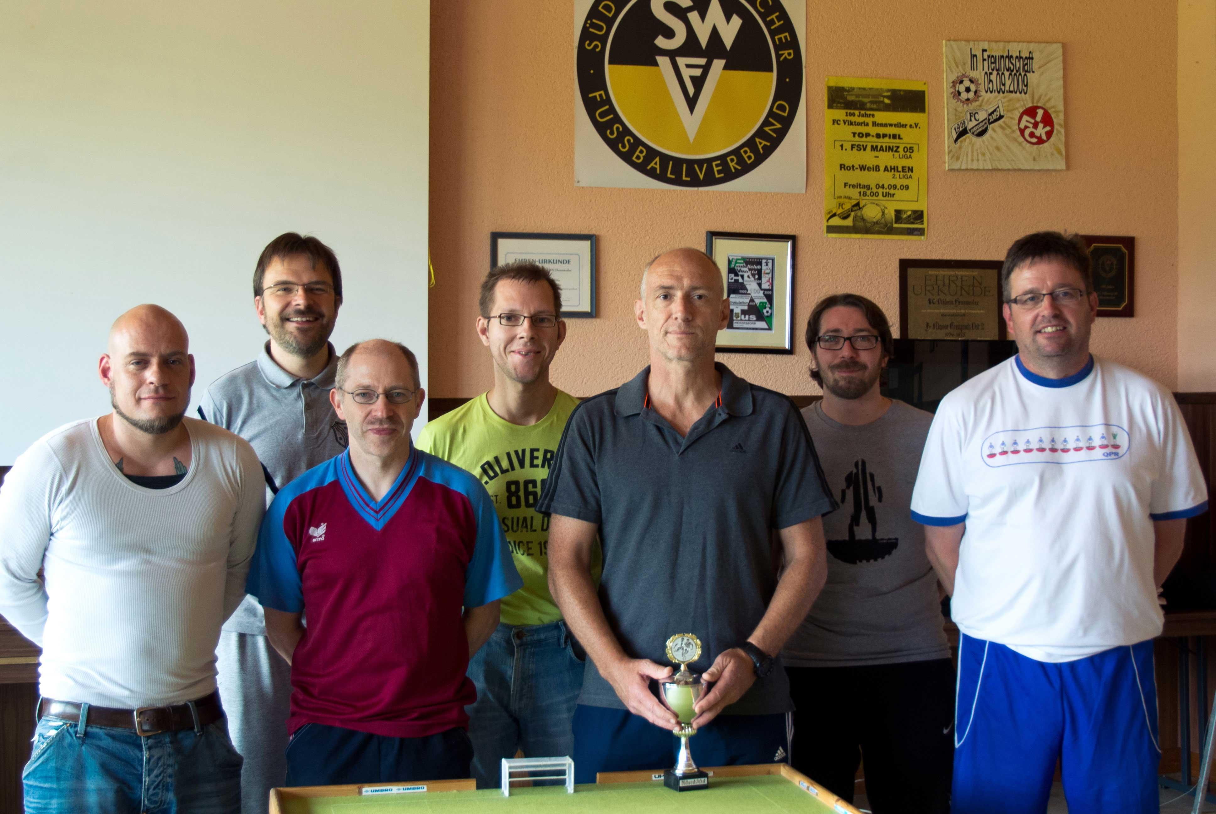 Die Teilnehmer (v. l.): Uli       Euler, Stephan Thiele, Rainer Vogt, Michael Beifuß, Thomas       Winkler, Marc Reitz, Rainer Scheurer